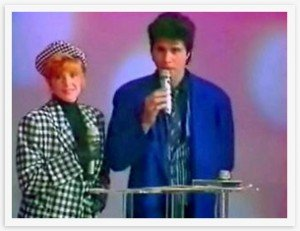 Mylène Farmer et JL Lahaye dans Mylène en INTERVIEW 1987-02-a-300x231